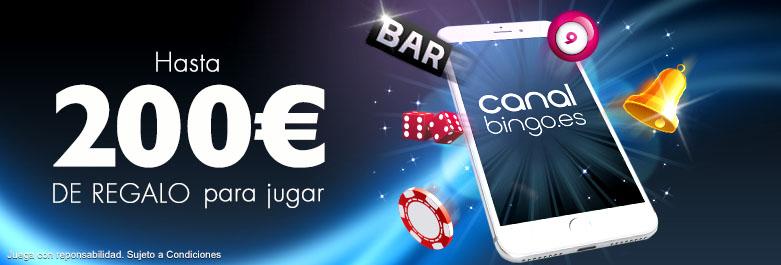 200€ gratis para jugar en Canal Bingo