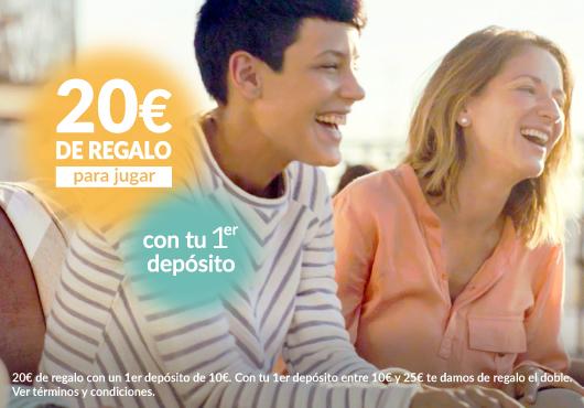 20€ de regalo para jugar con tu primer depósito en Tombola