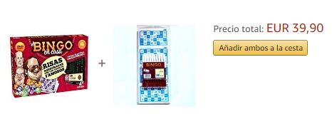 comprar bingo en casa+cartones amazon