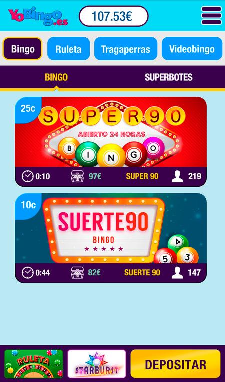 yobingo bingo version movil