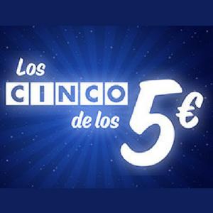 los cinco juegos de 5 euros