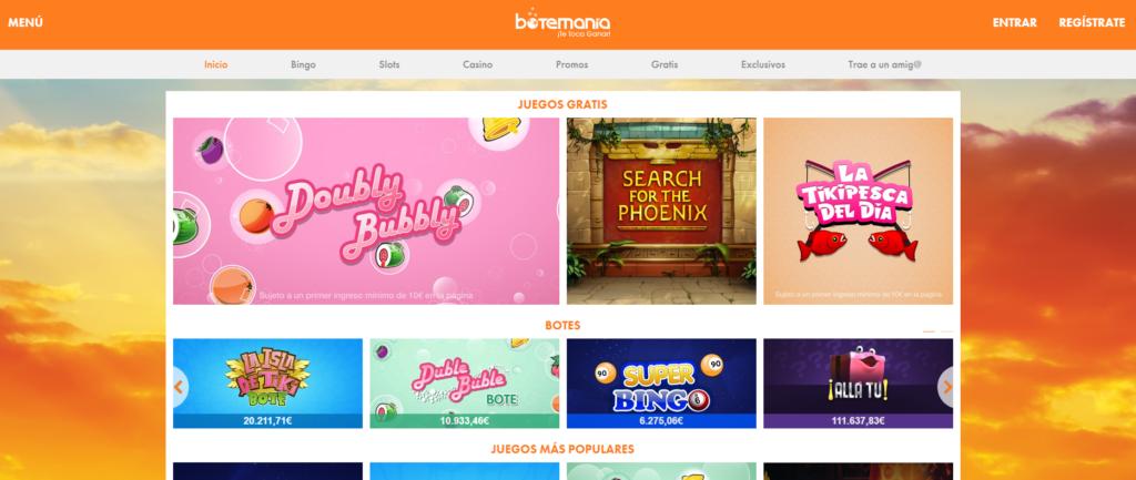 nueva web de botemania
